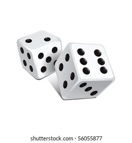 Vector white dice