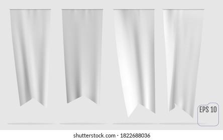 Vector white dovetail flag mockup.