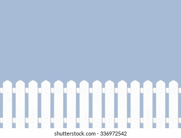 Vector white fence backdrop