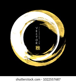 Vector White and Gold Design Templates for Brochures, Flyers, Mobile Technologies, Applications, Online Services, Typographic Emblems, Logo, Banners and Infographic. Golden Abstract Modern Backgrou