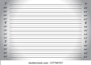 Vector of white grey wall, with Police Lineup Background