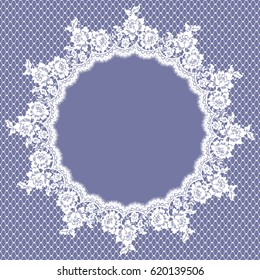 Vector White Lace Card Frame