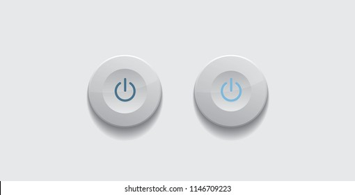 Vector white on button