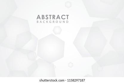 Vector white polygon background