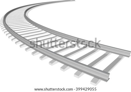 vector white sleepers rails stock vector royalty free 399429055