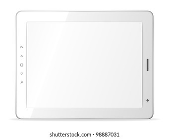 Vector white tablet pc on white background. Eps8 only
