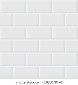 Vector of white tile for background.
