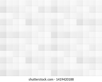 Vector White Tile Seamless Pattern, Texture Template, Abstarct Background, Clean Concept.
