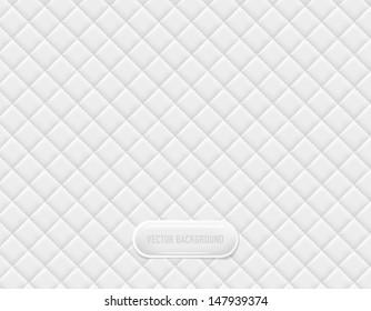 Vector white vinyl upholstery padded glossy background