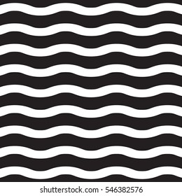 Vector White wavy lines on a black background