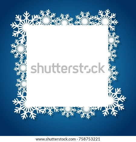Vector White Winter Frame Snowflake Perfect Stock Vector (Royalty ...