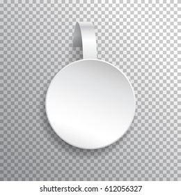 Vector white wobbler.Template for your design.