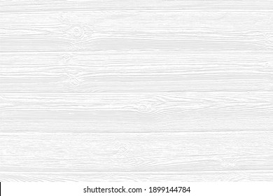 Vector white wood panel texture for backgrounds or design. Rustic grayscale wooden  wallpaper. White washed wood. Table top view. EPS10