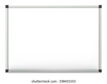 Vector Whiteboard. Classic Blank Whiteboard for copy space. Vector EPS10.