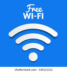 vector wifi symbol, free wifi
