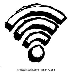 Vector Wi-Fi Symbol Sketch