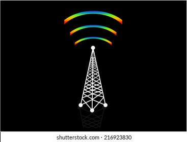 Vector Wi-Fi tower