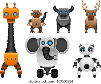 vector wild animal robot set 1 - Separate layers for easy editing