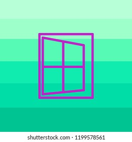 Vector of window icon. Business icon for the company. Logo for Building / Industry . Abstract symbol of window. Vector illustration.