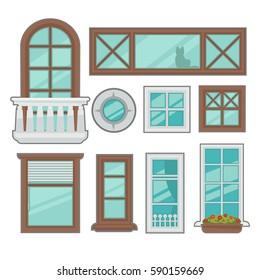 Royalty Free Stock Illustration Of House Exterior Design Ideas - Exterior-windows-design