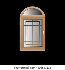 Vector windows plastic illustration isolated design background