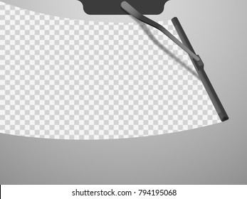 vector windscreen wiper illustration
