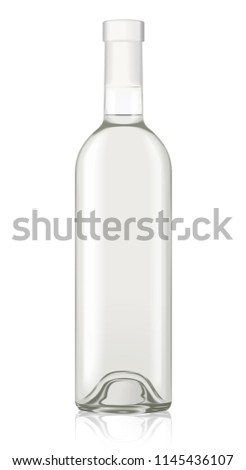 vector wine bottle mockup template isolated stock vector royalty