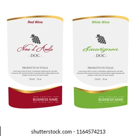 Vector wine label and bottle of wine mockup with this label