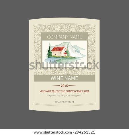Vector wine label template can be stock vector royalty free vector wine label template it can be used for label card sticker maxwellsz