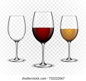 Vector, wine wineglass, made in a realistic style. on a white background. It can serve as a layout for future design and Publicity of your product.