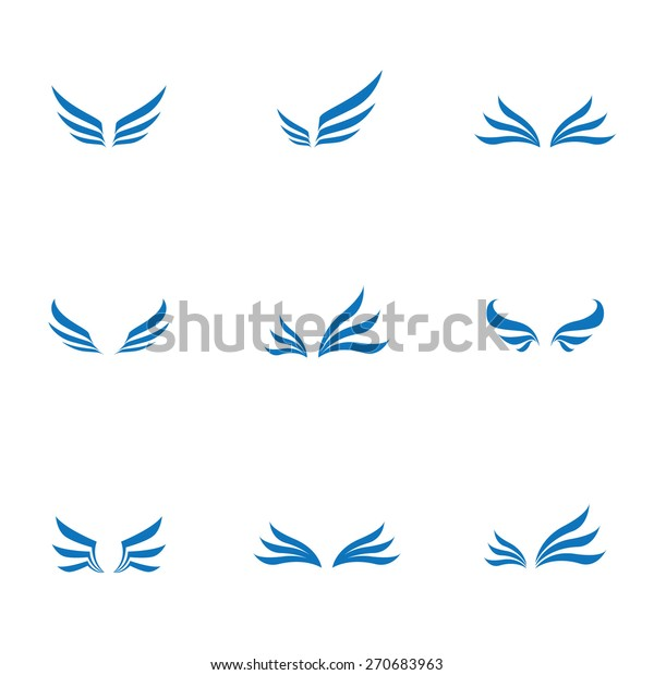 Vector wing icons set , logo