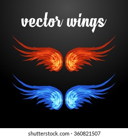 vector wings for characters
