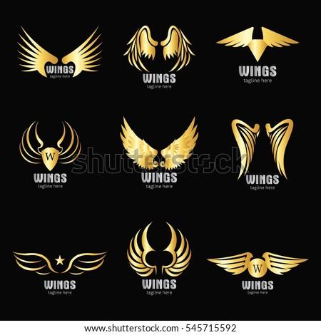 vector wings logo design template logo のベクター画像素材