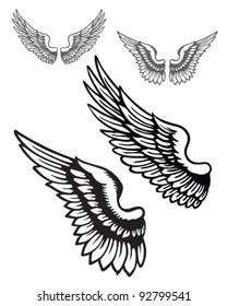 Vector wings set