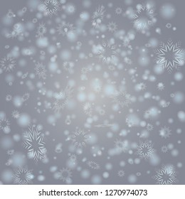 Vector Winter background with flay snowflakes. EPS