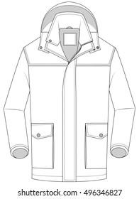 vector of winter  jacket. Man s winter coat