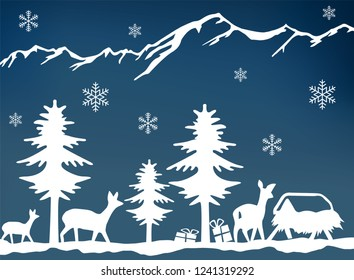 a vector winter landscape