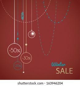 Vector Winter sale template