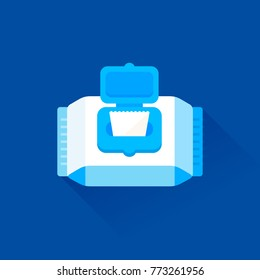 vector wipes package / wet tissue / isolated, sign and icon template