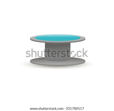 Vector Wire Spool On White Background Stock Vector Royalty Free