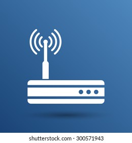 Vector wireless router icon wifi adsl ethernet modem hub .