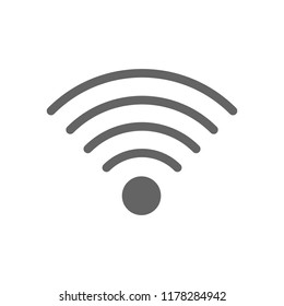 Vector wireless and wifi line icon. Symbol and sign illustration design. Isolated on white background