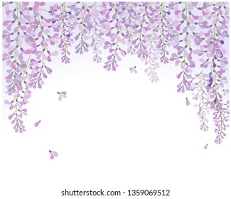 vector wisteria flower violet, purple ,blossom ,flower tunnel