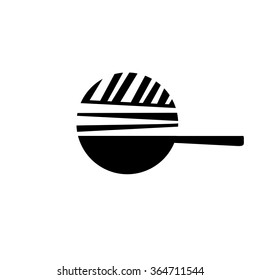 Vector of Wok icon. Asian frying pan. Symbols icon or logo for restaurant. Other companies. Vector illustration.