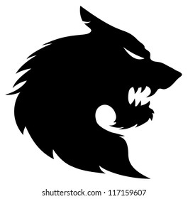 Vector. Wolf silhouette.
