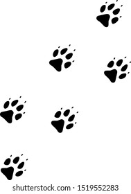 Vector wolf track flat icon. Vector pictograph style is a flat symbol wolf track icon on a white background.