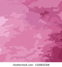 Vector woman pink camouflage military background. Pink abstract pattern.