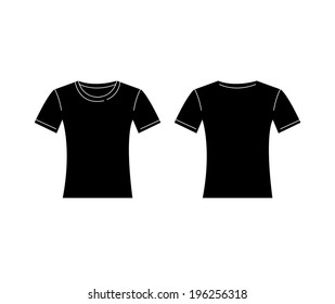T Shirt Template Charcoal Grey Stock Vector Royalty Free 593600276