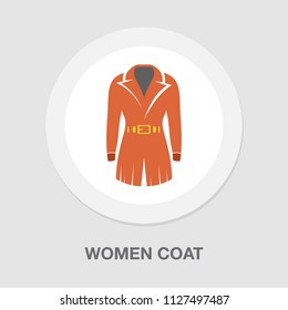 vector women coat illustration isolated. elegant and beautiful formal clothing fashion wear style symbol