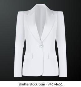 vector women white suit